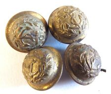 Antique Vintage Anchor Brass Button Lot Small Doll Bear Uniform Olive Branch