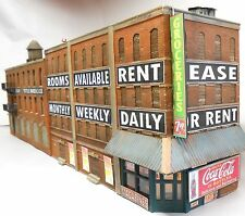 Downtown Deco HO Scale Front St. Flat Backdrop Model Craftsman Hydrocal Kit