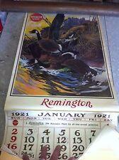 Remington Shotgun Calendar 1921 WITH MATCHING 1983 DATES