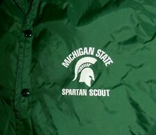Vintage 1970s Michigan State Spartans Scout Jacket Windbreaker, RARE, Free Ship