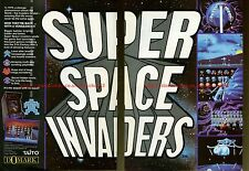 "Super Space Invaders ""Domark"" 1991 Double Page Magazine Advert #5817"