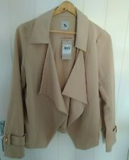 New with tags beige camel waterfall jacket coat size 10 12 wedding next day