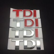 3D Red TDI EMBLEM CHROME BADGE TDI STICKER DECAL Fits VW Volkswagen