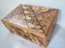 Traditional Japanese Hakone Yosegi Wooden Secret Puzzle Box 4 Steps Japan F/S