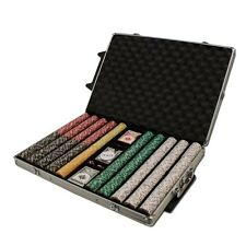 New 1000 Coin Inlay 15g Clay Poker Chips Set Rolling Aluminum Case - Pick Chips!