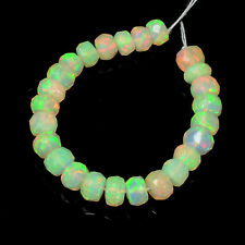 4mm-4.8mm Fine Ethiopian Welo Opal Faceted Rondelle Beads 3 inch strand