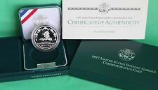 1997 US Mint Botanic Gardens Commemorative Silver Dollar Proof Coin with Box COA