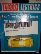 Peco HO/OO PL-16 Turnout Switch (3 Yellow 2 Red Sold as a LOT) NIP NOS