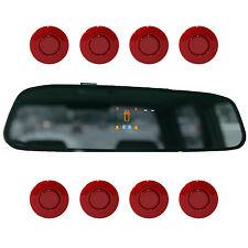 """Einparkhilfe """"Parking Welt"""" 8x Sensoren 21mm Rot Rückfahrwarner PDC M15"""