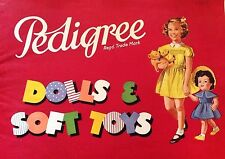 Vintage Large A4 Pedigree HP doll catalogue 1955/6 30 pages +  pram rugs