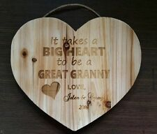 Personalized Wood Heart Sign for Great Grandma Granny Birthday Christmas Gift