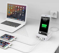 30W 5-Ports USB Wall Charger Adapter For Multiple Devices W/ iPhone Dock Station