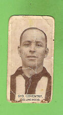 1933 WILLS CIGARETTE  CARD #21  SYD  COVENTRY, COLLINGWOOD MAGPIES