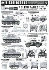 Bison Decals 1/35 POLISH TANKS IN ITALY 2nd Armoured Brigade Part 2