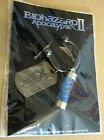 Resident evil Biohazard Apocalypse Virus Keychain with UBCS Dog Tag 2004