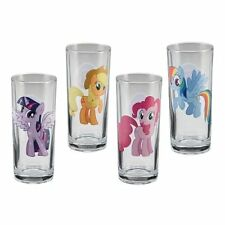 My Little Pony Characters Art Images 10 Oz Drinking Glass Set of 4, NEW UNUSED