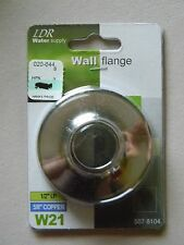 "Water Supply 1/2"" IP for 5/8"" Copper Wall Flanges  - by LDR- W21 - Chrome"