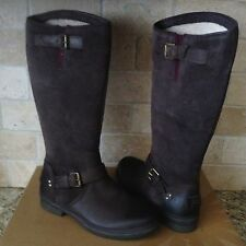 UGG THOMSEN STOUT BROWN TALL WATER-PROOF LEATHER SNOW BOOTS US 10 WOMENS