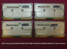 4GB Kit Samsung MR18R162WDG0-CM8 PC800-40 800MHz RAMBUS RDRAM ECC Server Memory