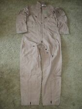 U.S. MILITARY ISSUE NOMEX CWU-27/P FLIGHT SUIT TAN SIZE 48L NEW WITH TAGS