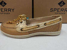 SPERRY TOP SIDER WOMENS BOAT SHOES FIREFISH PYTHON LINEN SIZE 7