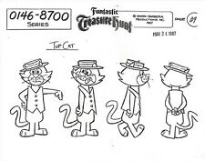 TOP CAT ~ SET OF THREE HANNA BARBERA MODEL SHEETS WITH MULTIPLE  IMAGES