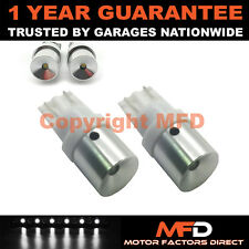 2X WHITE W5W 501 SIDELIGHT NUMBER PLATE INTERIOR REPEATER LED BULBS CANBUS