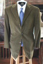 HUGO BOSS BALDESSARINI CARUSO CASHMERE HUNTER ARMY GREEN CORDUROY PATCH POCKET