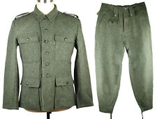 WWII GERMAN M43 WH EM FIELD-GREY WOOL UNIFORM JACKET AND TROUSERS SIZE XL-33101
