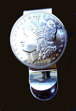 Western Jewelry Money Clip Bright American Morgan Silver Dollar Concho Repro.