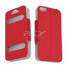 Carcasa para IPHONE 5 FASHION funda, ROJO Funda Libro Tapa i68