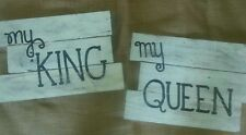 Rustic Bridal Wedding Just Married Party Sign Pallet Photo Booth Prop King Queen