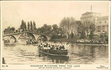 BRITISH EMPIRE EXHIBITION - Canadian buildings lake people boat (JC.4)