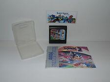 Sonic The Hedgehog 2 Sega Juego Gear Retro Video Juego Carro Y Manual