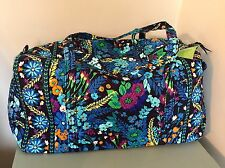 New Vera Bradley Large Duffel Bag Midnight Blues Luggage