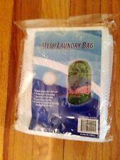 "EXTRA LARGE MESH LAUNDRY BAG (24"" X 36"") DRAWSTRING CLOTHES CARRY HANDLE NYLON"