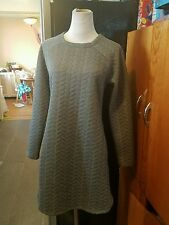 kenneth cole reaction dress size small long sleeve above knee length gray textur