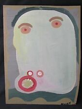 "MOSE TOLLIVER ""SELF-PORTRAIT"" - BLACK SOUTHERN FOLK OUTSIDER ART BRUT- VISIONARY"