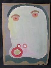 """MOSE TOLLIVER """"SELF-PORTRAIT"""" - BLACK SOUTHERN FOLK OUTSIDER ART BRUT- VISIONARY"""