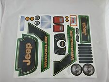 Power Wheels CBG65 Jeep Wrangler Label Decal Sheet