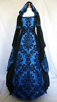 Medieval Gothic Dress Renaissance Hooded Wedding Gown Pagan Custom Made to size