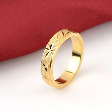 18K Yellow Gold Filled Men Ring Wedding Band Wide 5MM GF Fashion Jewelry Size 11