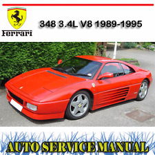 FERRARI 348 3.4L V8 1989-1995 WORKSHOP SERVICE REPAIR MANUAL ~ DVD