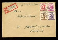 GERMANY 1946 RELIEF FUND 4 VALUES on REGISTERED COVER WEIXDORF