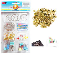 75* Paper Pins All In One Drawing Brass Clips Holder Office Board Stationery Mix