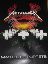 METALLICA * Hand Signed MASTERS OF PUPPETS POSTER * ALL 4 W/PROOF L@@K
