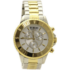 Versus By Versace Men's Tokyo SGN120015 Chrono Two Tone Gold/Silver Analog Watch