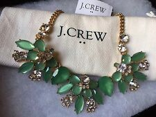NWT J. Crew Cluster Emblem Rustic Willow Necklace With Bag
