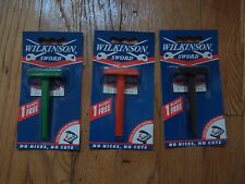 3 Wilkinson Sword CLASSIC Double Edge Razor + 1 Blade each Old Stock