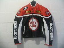 LUCKY STRIKE BIKERS JACKET LEATHER. MEDIUM